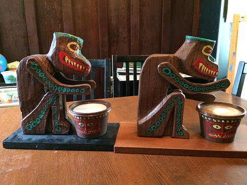 Tiki Drummers - old (left) vs. new (right) | by inexorabletash