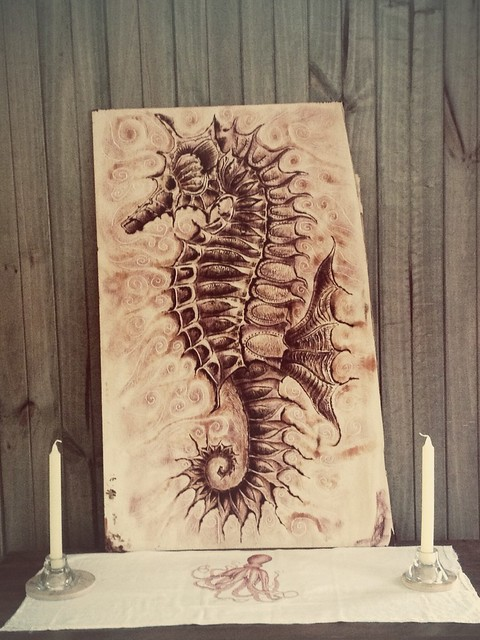 Seahorse Pyrography Art Explore M Art Y S Photos On