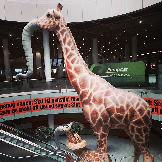 giraffe elephant chimera dusseldorf airport germany flickr. Black Bedroom Furniture Sets. Home Design Ideas