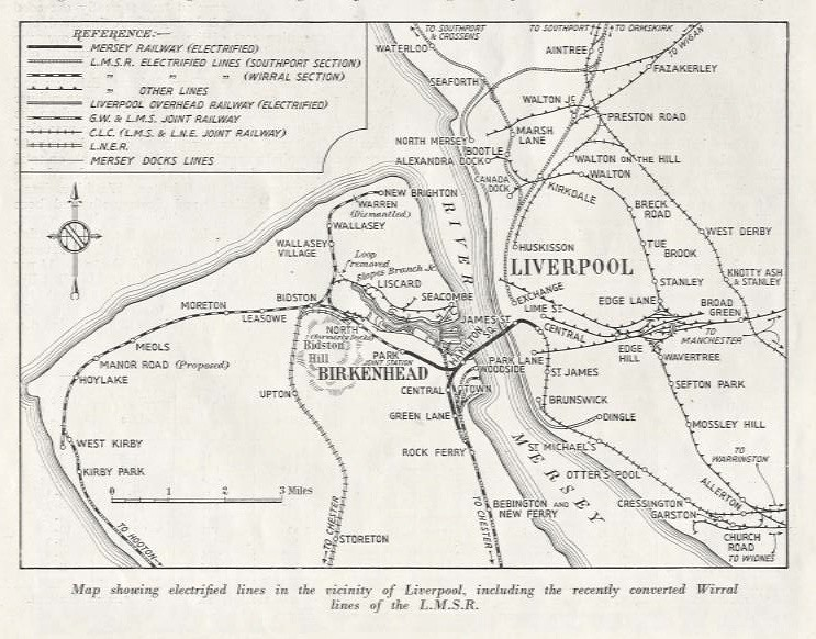 Railway map of Liverpool The Wirral Merseyside c1938 Flickr