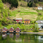 Huts on the Fjord - Flam, Norway