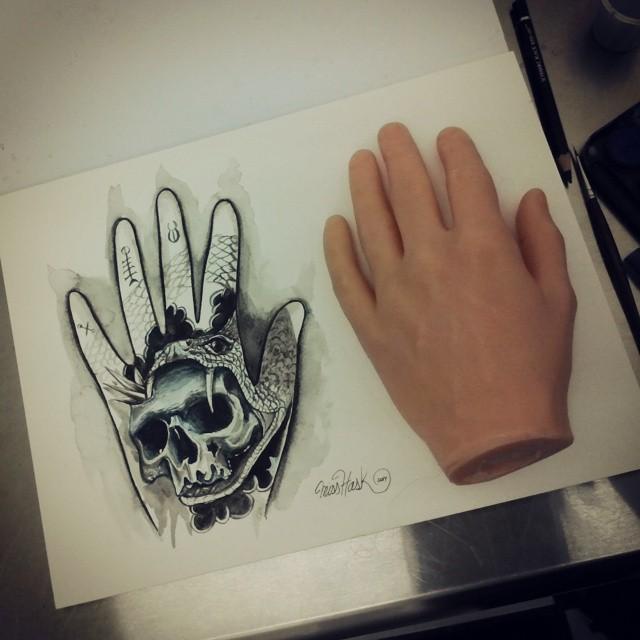 Y Así Vamos Con El Boceto De La Mano Para La Expo Tattoo Flickr