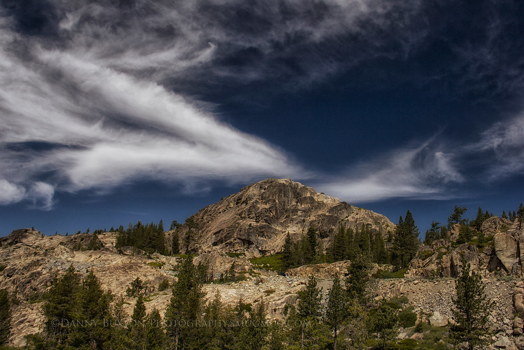 Donner Pass Crossing The Sierra Nevada Range At Donner