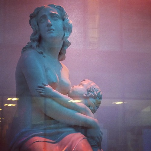 The Irish strongly encourage breast feeding. A subtle reminder of its timelessness in the window of a museum.
