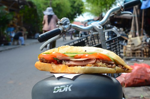 banh mi on a bike