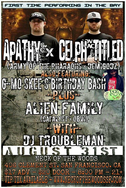 Apathy & Celph Titled in San Francisco