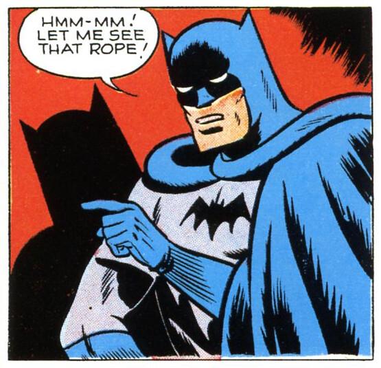 let me see that rope batman newspaper comic 1940s tom. Black Bedroom Furniture Sets. Home Design Ideas