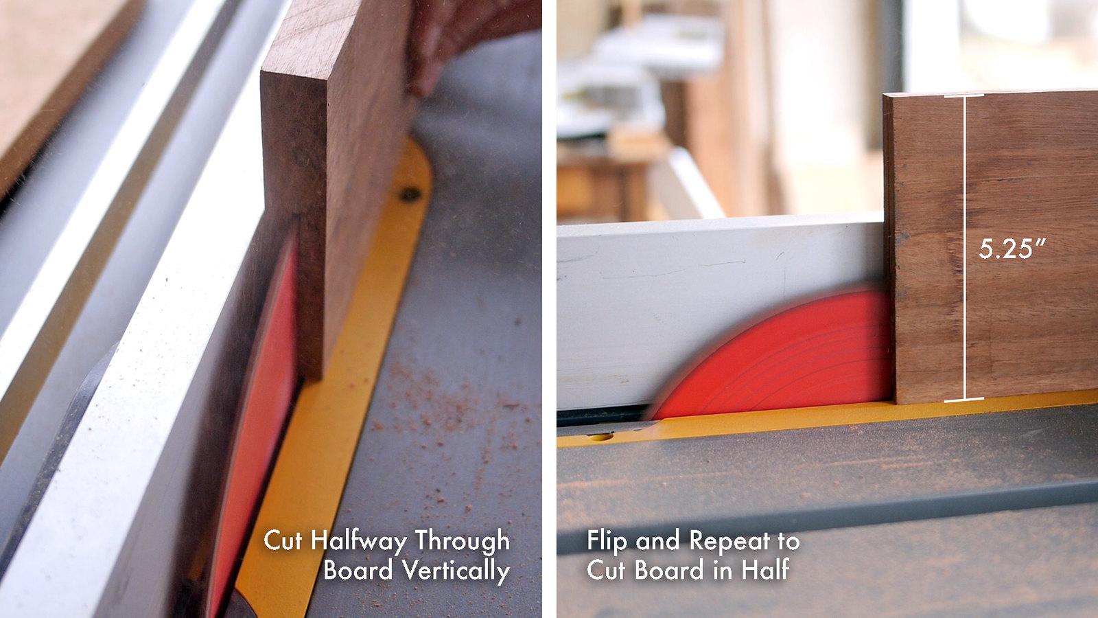 Cut Board in Half