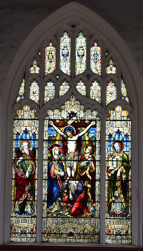 crucifixion flanked by St Andrew and St Peter by Arthur Moore, 1897 | by Simon_K
