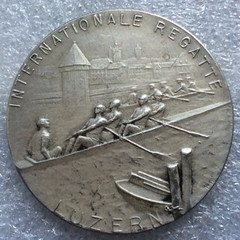 1912 International Regatta Medal reverse