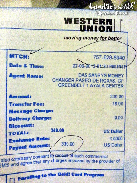 My Western Union Money Transfer Experience! - Animetric's World