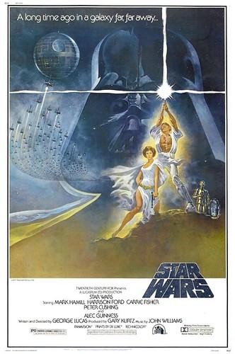 「スターウォーズ」のポスター