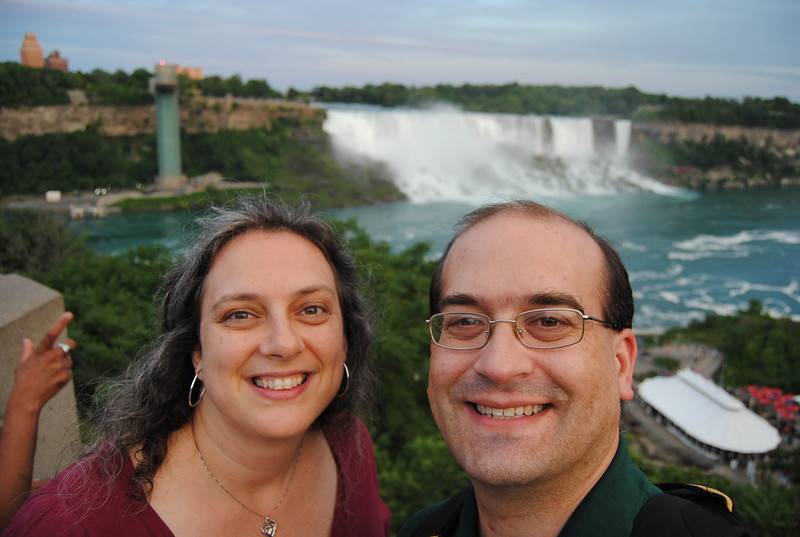 Chris and Katherine Rowland in Niagara Falls, Ontario
