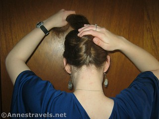 Flip the twisted hair up to make a French Twist with Ponytail - 12 Hiking Hairstyles that are Pretty & Practical
