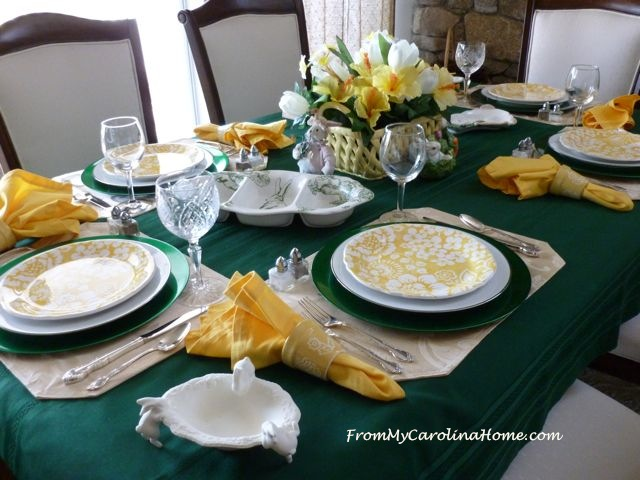 Spring Tablescape @ From My Carolina Home
