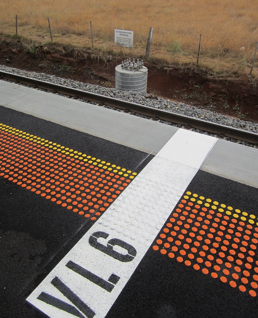 Platform at Caroline Springs Station