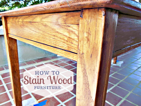 How To Stain Wood Furniture Tastefully Eclectic