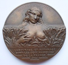 French Agriculture Medal obverse