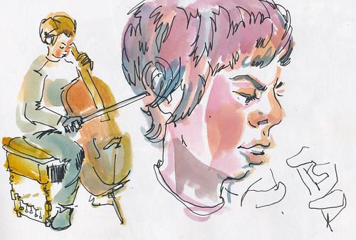 Sketchbook #102: Cello Lesson