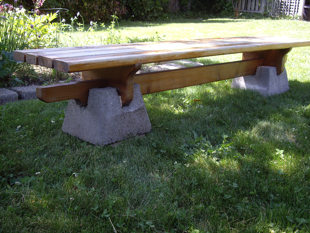 Low Garden Bench For Pier Blocks Bench Is Designed To