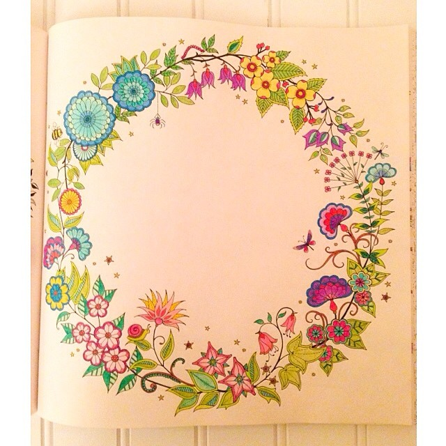 By GoldWillow Finished A Page From The Secret Garden Coloring Book