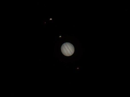 jupiter and its moons with white back - photo #38