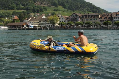 Schlauchboot Rhein