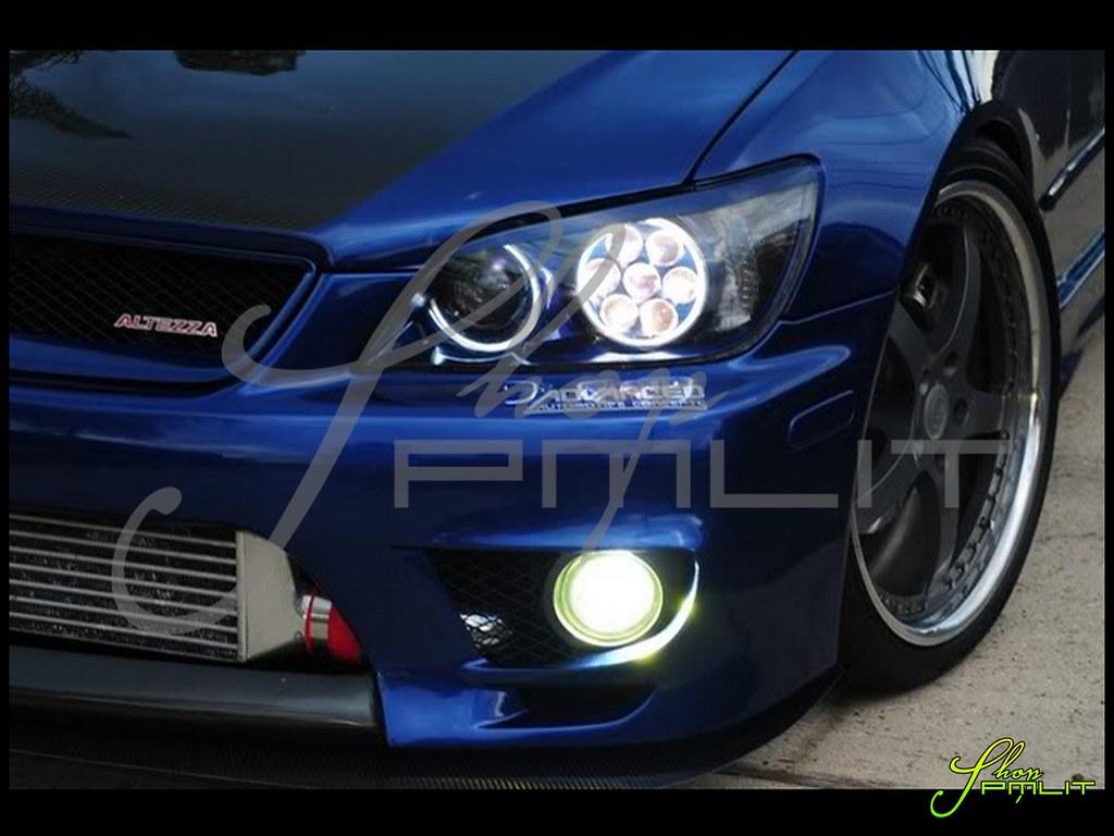 Shoppmlit Lexus Is300 Halo Led Lights Automotive Headlight