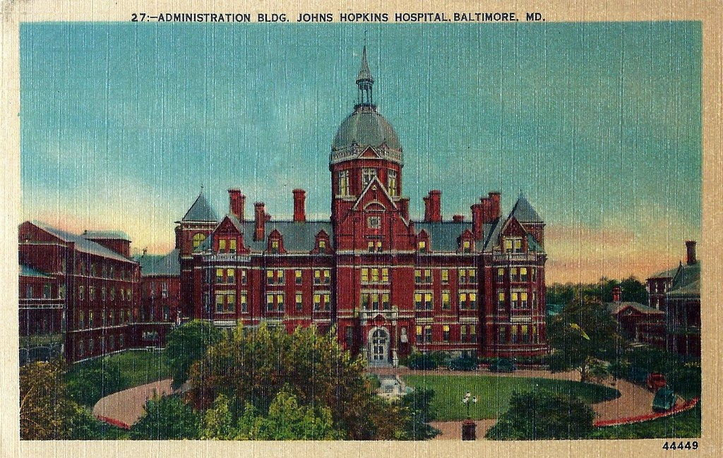 Vintage Baltimore Postcard, Johns Hopkins Hospital, Circa ...