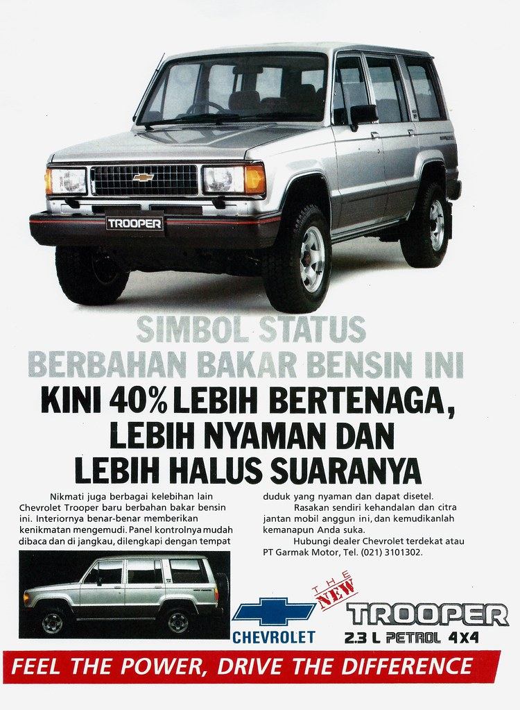 Sejarah Chevrolet Trooper Indonesia Jipmania