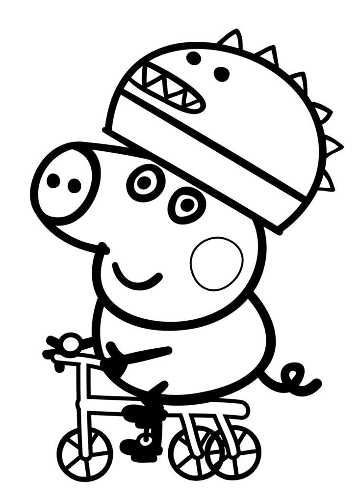 ... desenhos para colorir da peppa pig george Desenhos do Peppa Pig para  colorir pintar imprimir,
