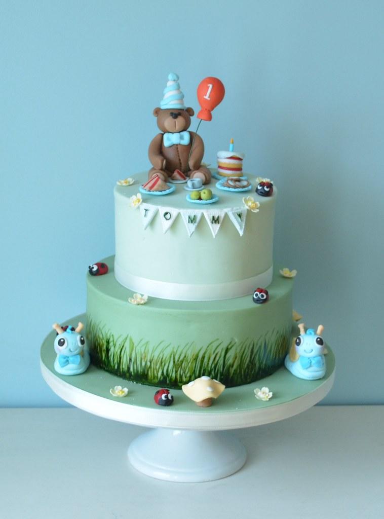 Teddy Bear 1st Birthday Cake Kathryn Flickr