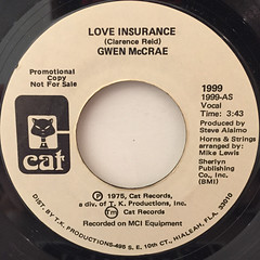 GWEN MCCRAE:LOVE INSURANCE(LABEL SIDE-A)