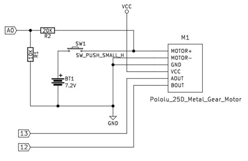 逆起電力と回転速度の測定回路