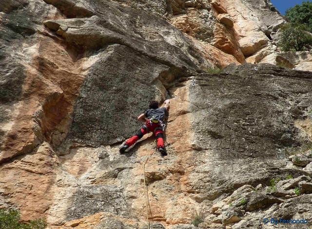 Antonio Serra - Metrópolis L1 + L2, 6a_a+ -03- Tramo común - La Cascada, Subsector El Mirador (12-03-2017)