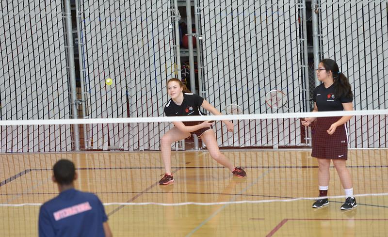 Varsity Badminton vs. Athenian/International, Apr. 11 & 12, 2017