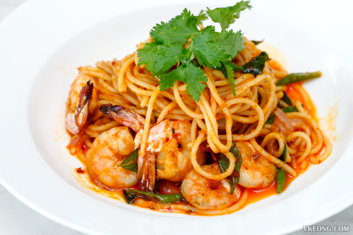 Tappers Cafe Golden Salted Egg Prawn Spaghetti