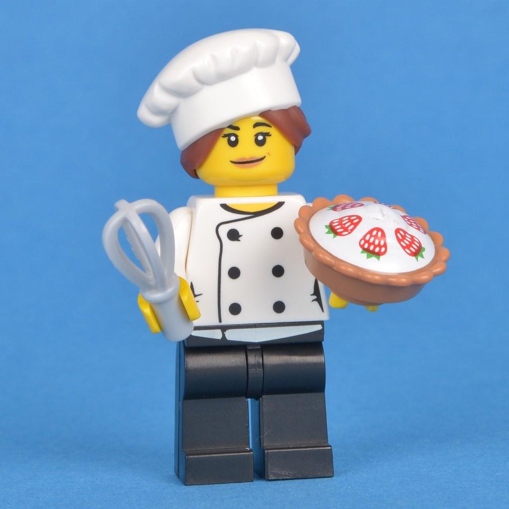 Lego connoisseur series 17 choose parts legs torso head hat bread baguette dog