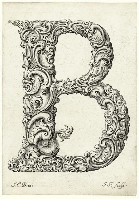 003- Letra B-Libellus Novus Elementorum Latinorum -J. C. Bierpfaff-  Rijksmuseum