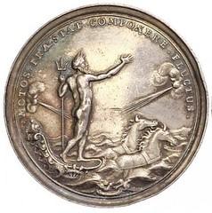 1696 Netherlands Neptune Sea Chariot Medal obverse