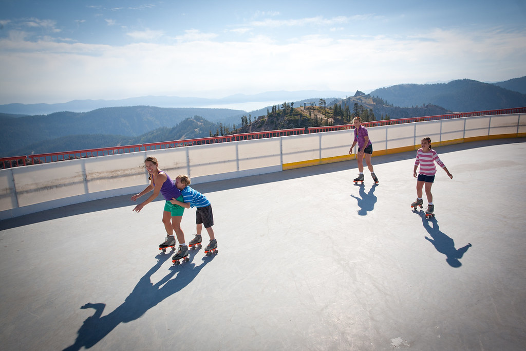 Roller Skating At High Camp E 8200 39 Squaw Valley Alpine Meadows Flickr