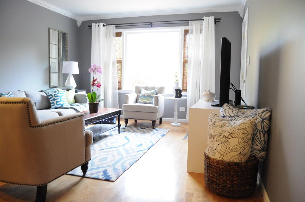 marvelous blue gray teal living room | Gray Teal Lime Blue Living Room | Blogged, 5/21/14, www ...