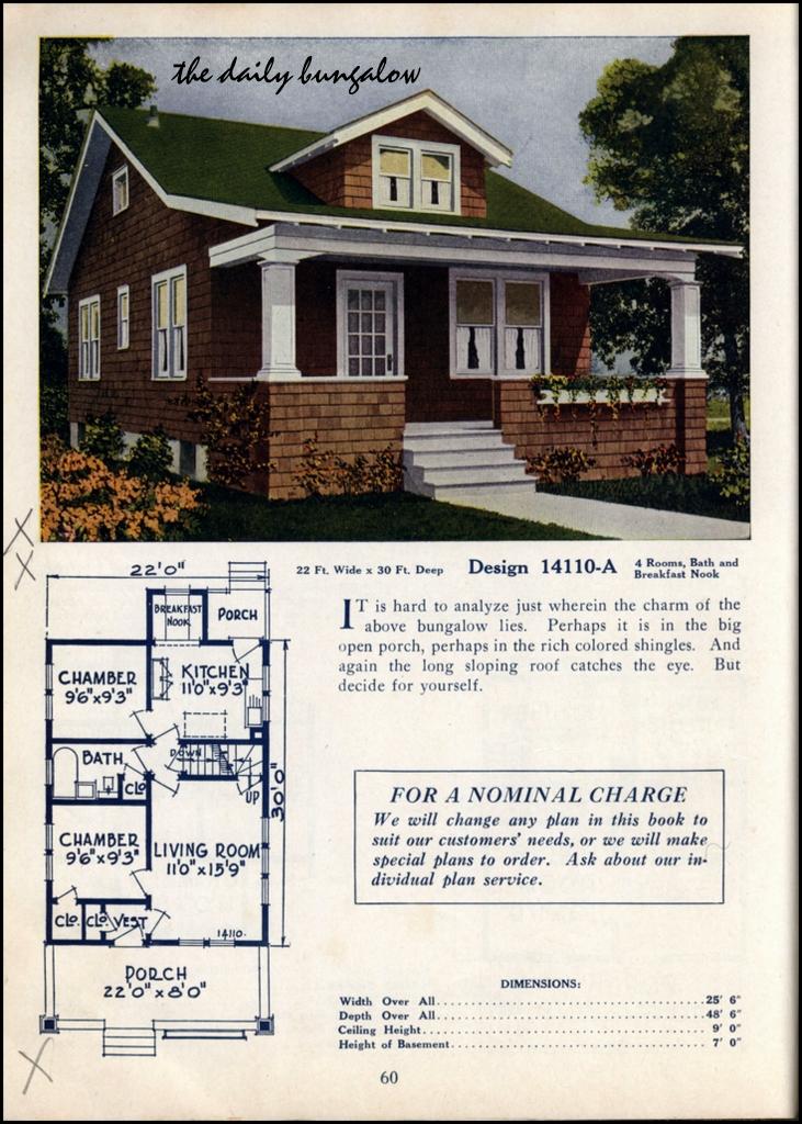 1925 bungalow house plans house design plans for 1925 bungalow floor plan