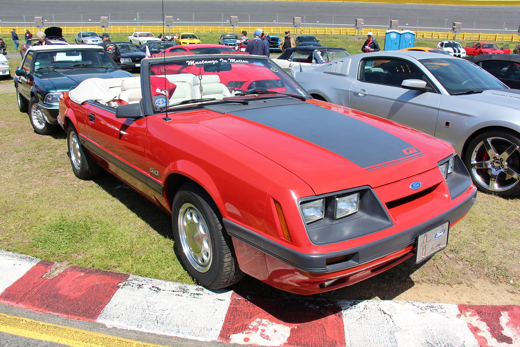 4 Door Convertible >> 1985 Ford Mustang GT Convertible | Bright Red. Fords Pony ca… | Flickr