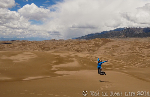 great sand dunes - val in real life
