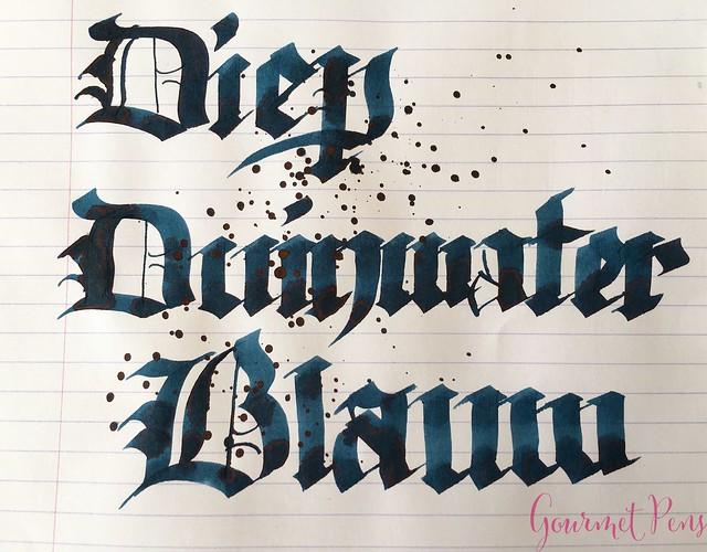 Ink Shot Review P.W. Akkerman Diep Duinwater Blauw @vulpennen 7