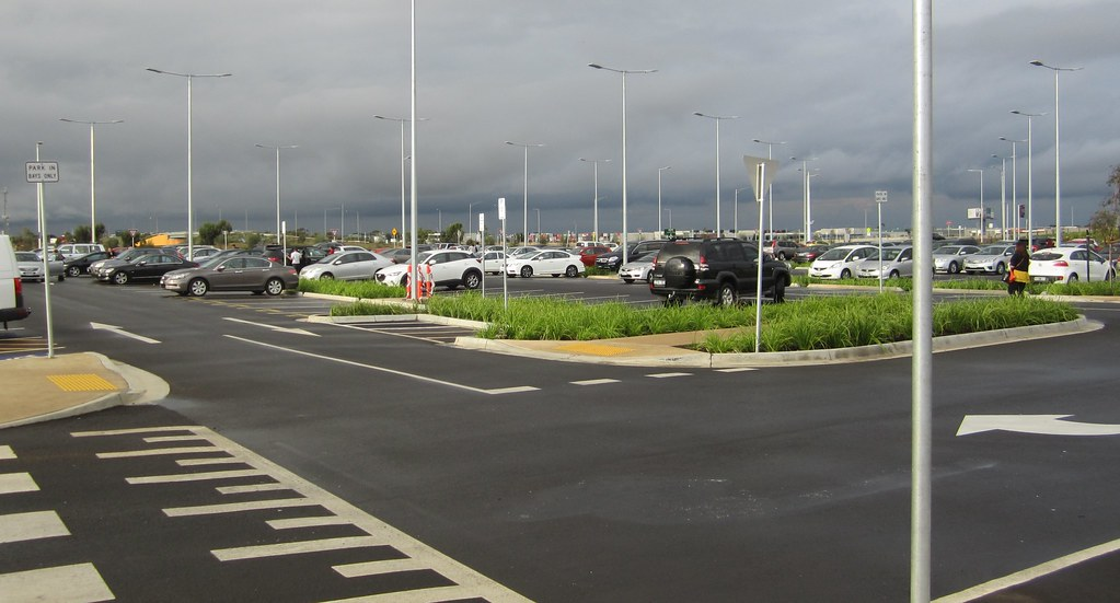 Car park at Caroline Springs Station