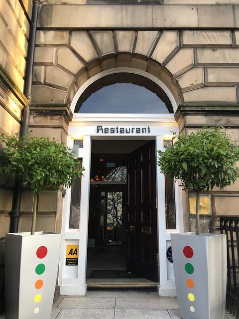 michelin star restaurant 008  Edinburgh, entrance