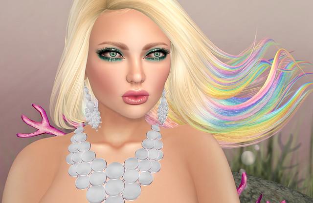 Mae jewelry set- Zuri Rayna, Lumae skin on Lelutka Simone+ Exile free gift