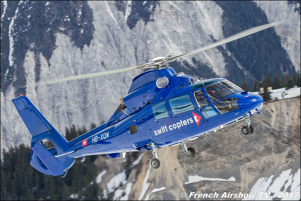 Eurocopter AS-365N-2 Dauphin 2 - HB-XQW , Swift Copters , Fly Courchevel 2017 , Hélico 2017